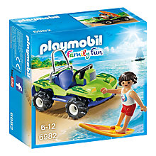 Buy Playmobil Summer Fun Surfer With Beach Quad Online at johnlewis.com