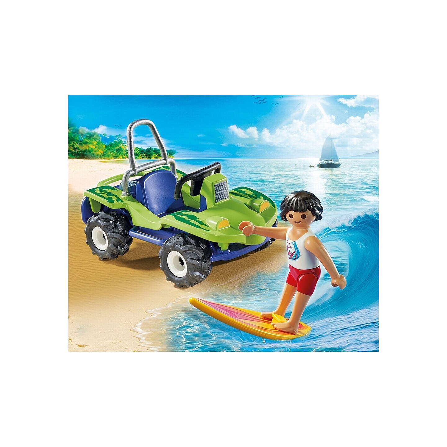 BuyPlaymobil Summer Fun Surfer With Beach Quad Online at johnlewis.com