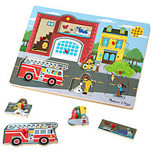 Buy Melissa & Doug Around The Fire Puzzle Online at johnlewis.com