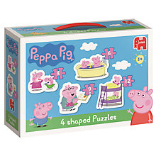 Buy Peppa Pig 4 In 1 Shaped Puzzles Online at johnlewis.com
