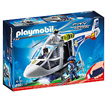 Buy Playmobil Police Helicopter with LED Searchlight Online at johnlewis.com