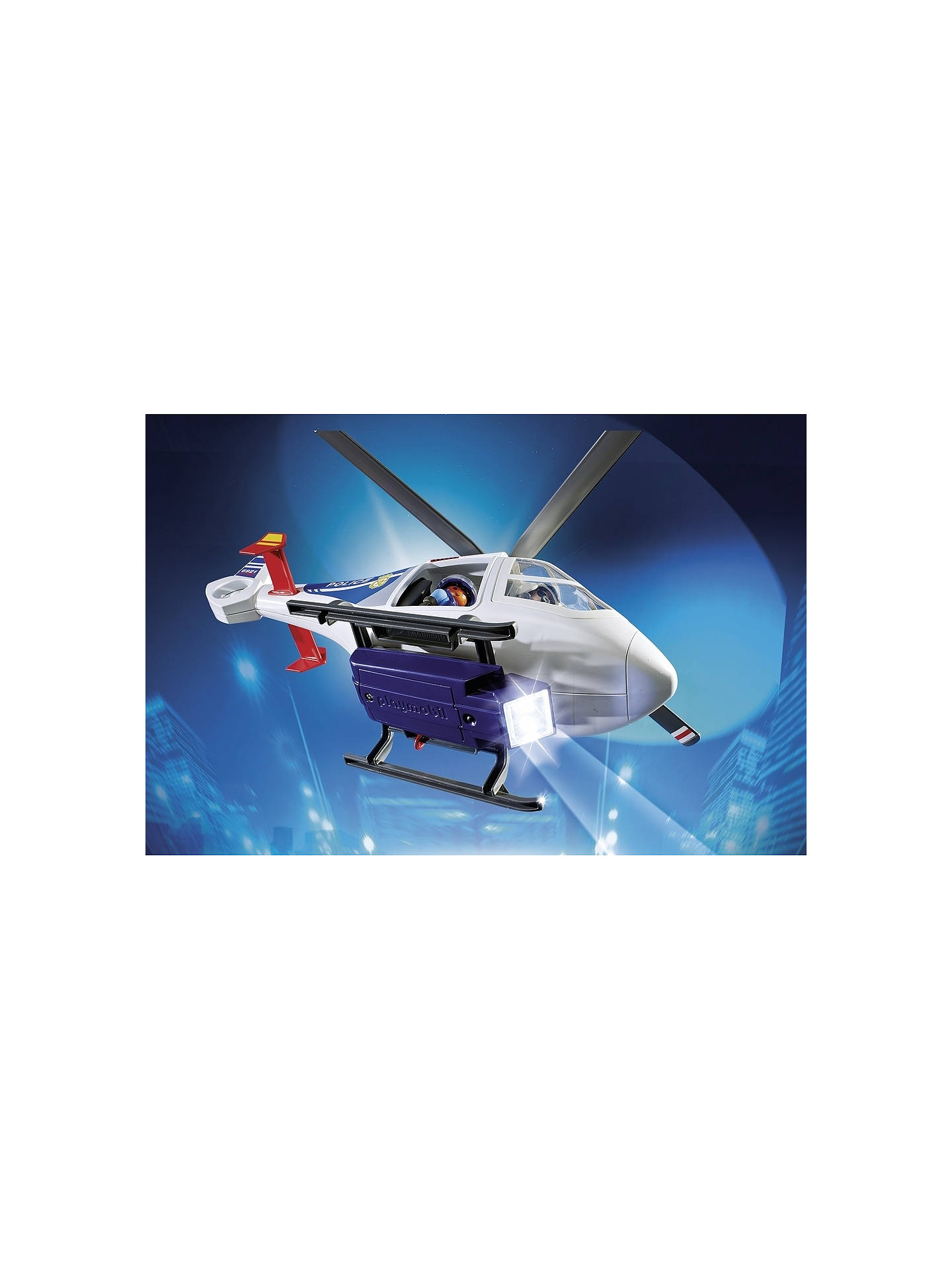 BuyPlaymobil Police Helicopter with LED Searchlight Online at johnlewis.com