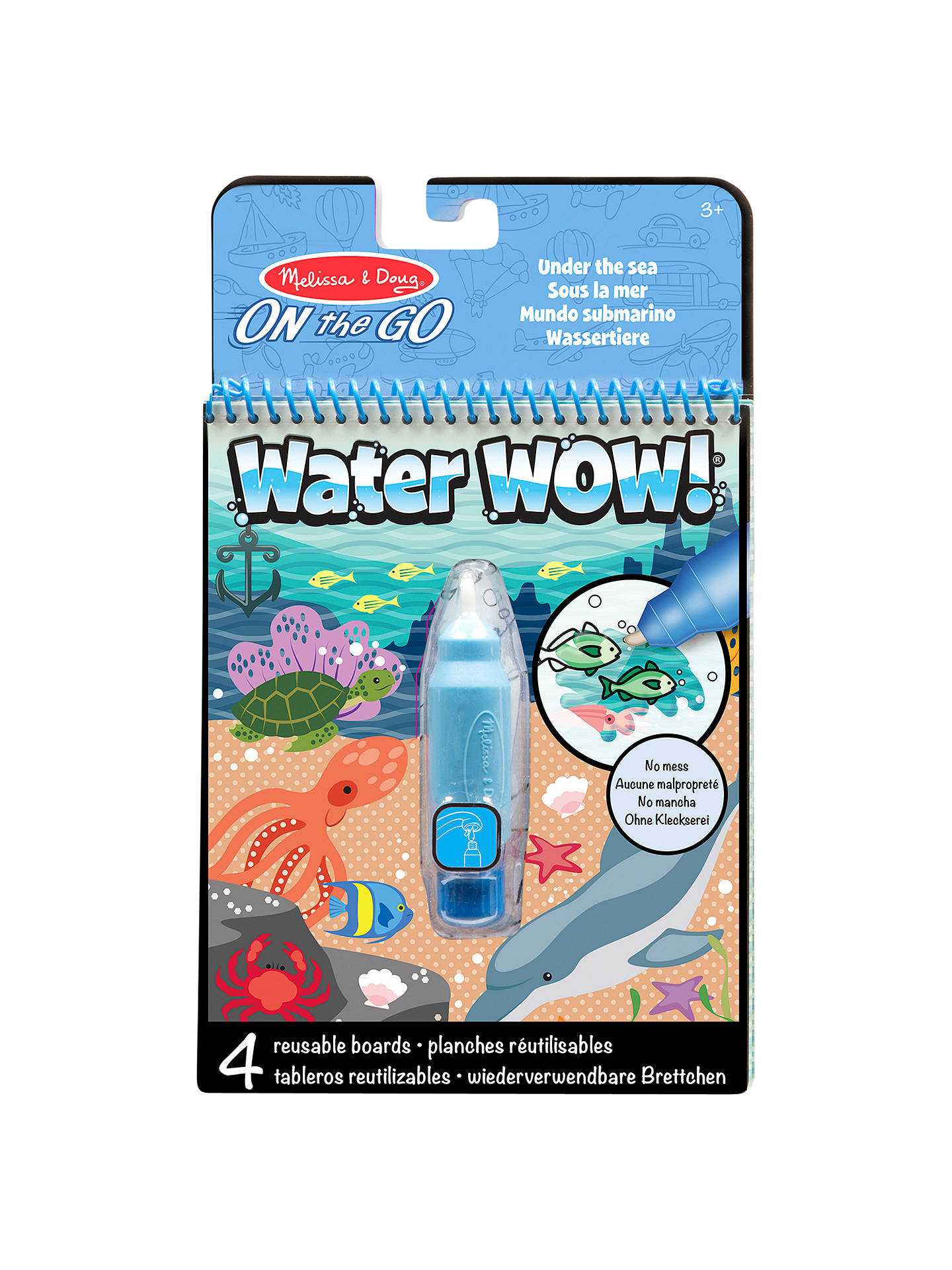 Melissa Doug Water Wow Under The Sea Water Reusable Colouring Pad