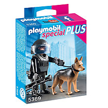 Buy Playmobil Tactical Police Dog Unit Online at johnlewis.com