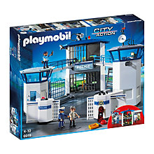 Buy Playmobil City Action Police Headquarters with Prison Online at johnlewis.com