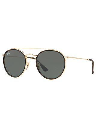 Ray-Ban RB3647N Unisex Double Bridge Oval Sunglasses