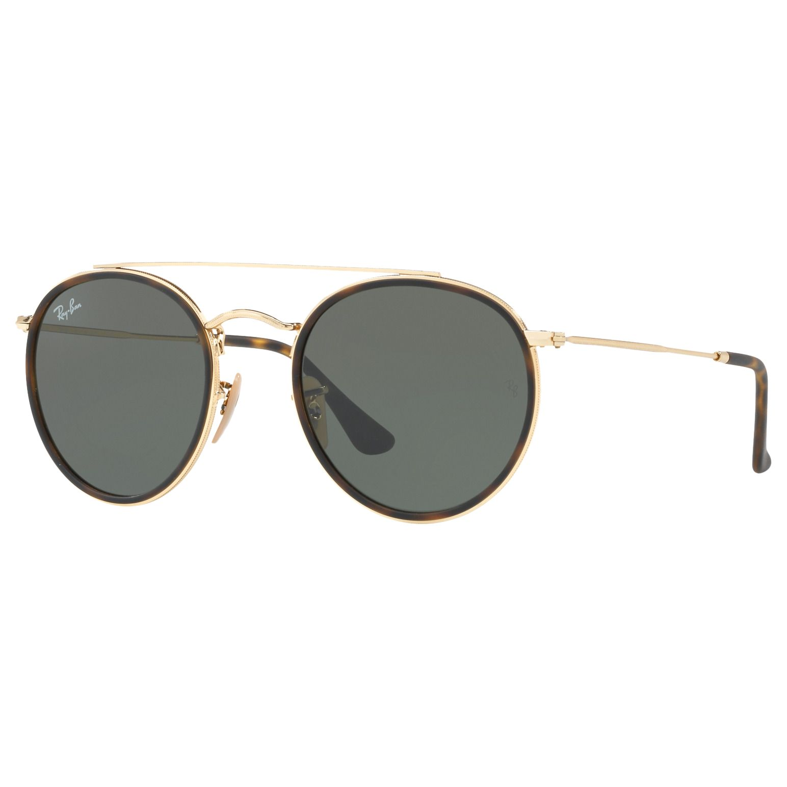 Ray-ban Ray-Ban RB3647N Unisex Double Bridge Oval Sunglasses