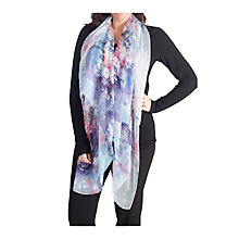 Buy Chesca Floral Printed Scarf, Aqua Online at johnlewis.com