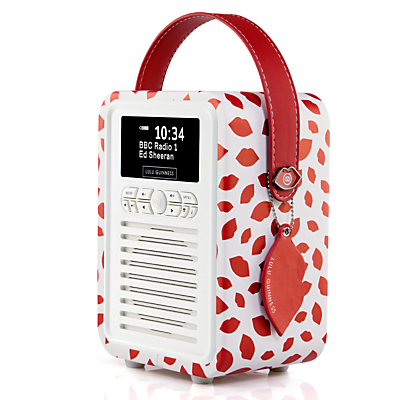 Image of VQ Retro Mini DAB/FM Bluetooth Digital Radio, Lulu Guinness Design