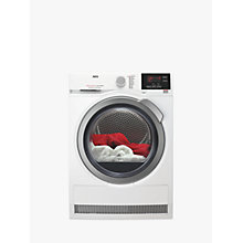 Buy AEG T6DBG822N 6000 Series Condenser Tumble Dryer, 8kg Load, B Energy Rating, Silver Online at johnlewis.com