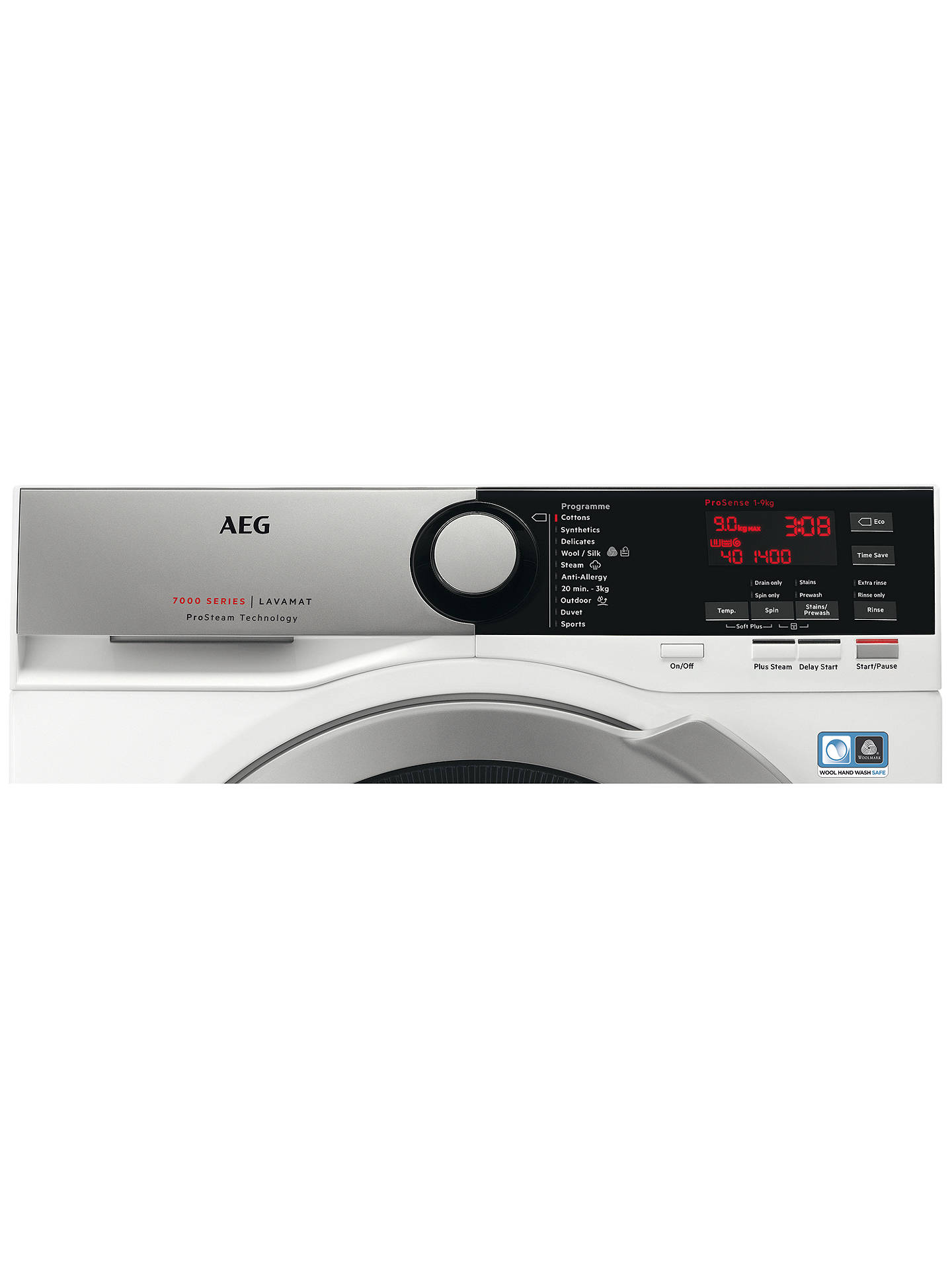 BuyAEG L7FEE945R Freestanding Washing Machine, 9kg load, A+++ Energy Rating, 1400rpm, White Online at johnlewis.com