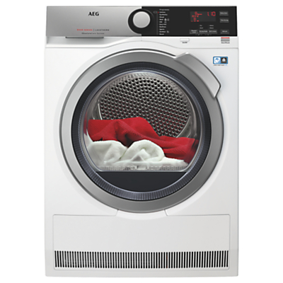 AEG AbsoluteCare Technology T8DEE845R Free Standing Condenser Tumble Dryer in White