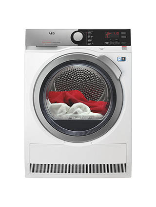 Buy AEG T8DEE845R 8000 Series Heat Pump Tumble Dryer, 8kg Load, A++ Energy Rating, White Online at johnlewis.com