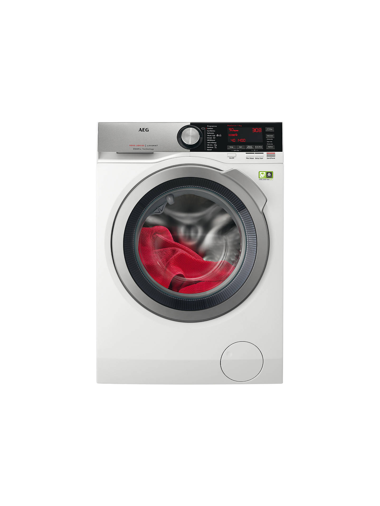 BuyAEG L8FEC946R Freestanding Washing Machine, 9kg load, A+++ Energy Rating, 1400rpm, White Online at johnlewis.com