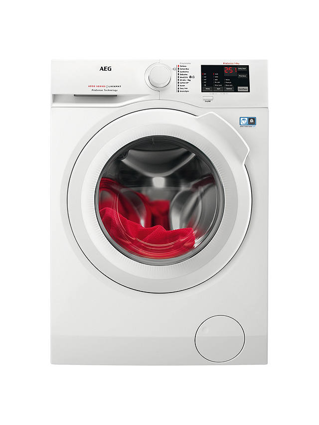 Buy AEG L6FBI841N Freestanding Washing Machine, 8kg Load, A+++ Energy Rating, 1400rpm Spin, White Online at johnlewis.com