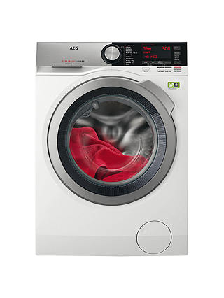 Buy AEG L8FEC966R Freestanding Washing Machine, 9kg load, A+++ Energy Rating, 1600rpm, White Online at johnlewis.com