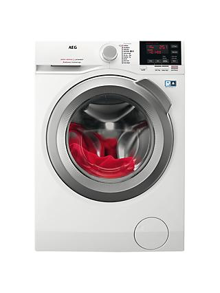 AEG L6FBG142R Freestanding Washing Machine, 10kg load, A+++ Energy Rating, 1400 rpm, White
