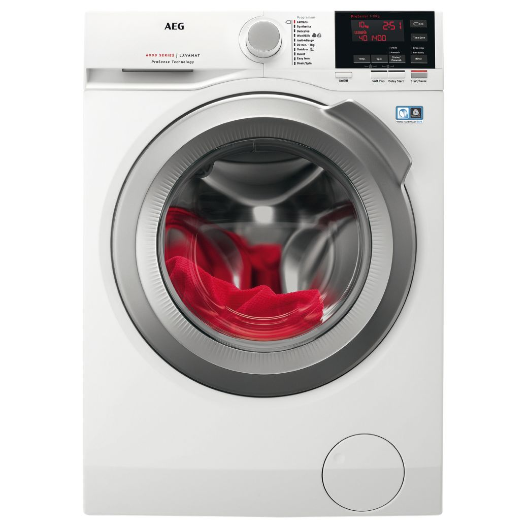 AEG AEG L6FBG142R Freestanding Washing Machine, 10kg load, A+++ Energy Rating, 1400 rpm, White