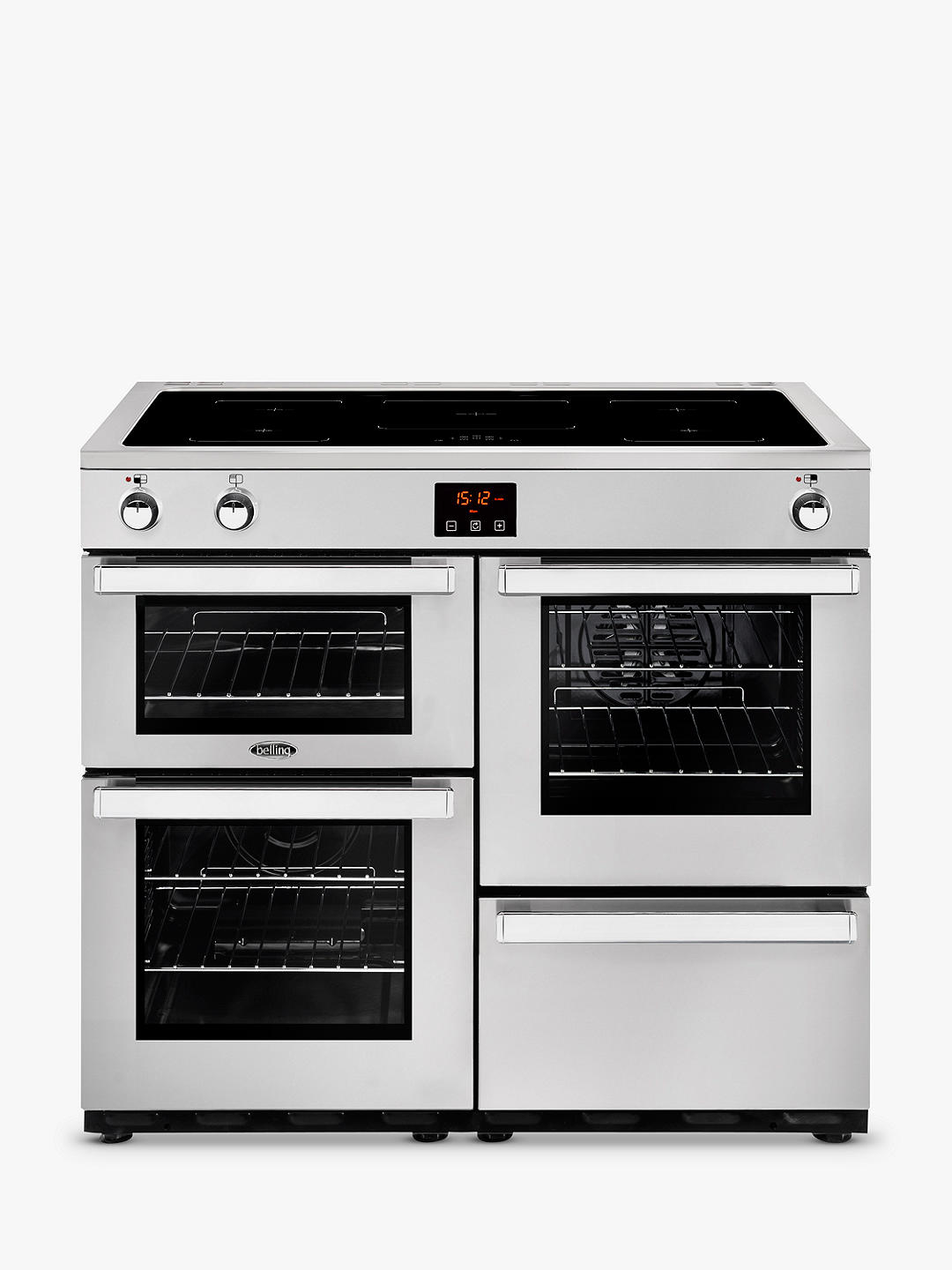 Buy Belling Cookcentre 100EI Electric Range Cooker With Induction Hob, Stainless Steel Online at johnlewis.com