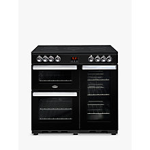 Buy Belling Cookcentre 90E Electric Range Cooker With Ceramic Hob, Black Online at johnlewis.com