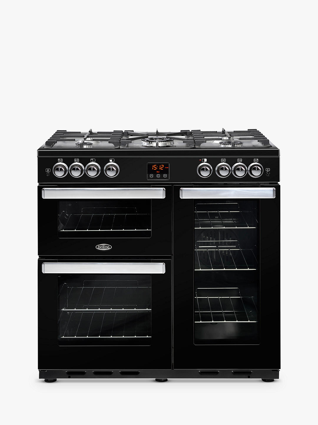 Buy Belling Cookcentre 90G Gas Range Cooker, Black Online at johnlewis.com