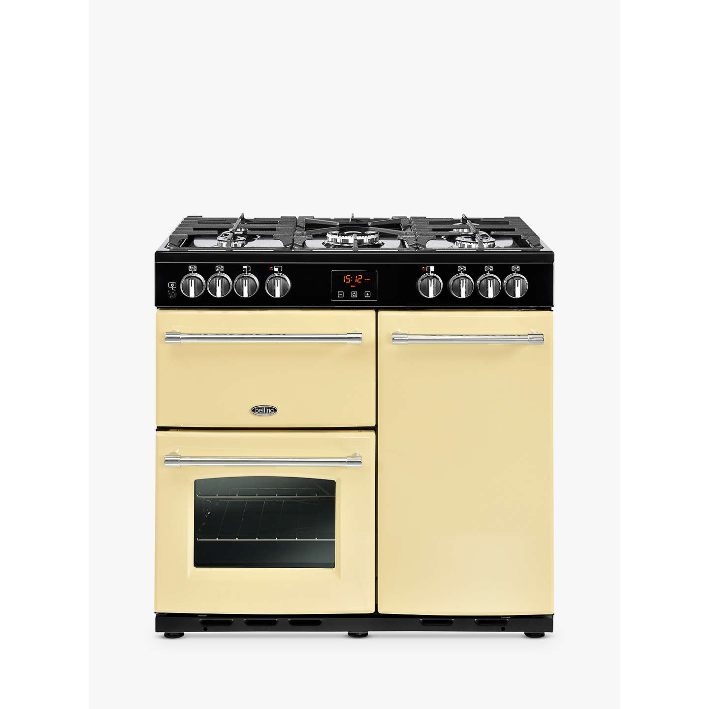 BuyBelling Farmhouse 90DFT Dual Fuel Range Cooker, Cream Online at johnlewis.com