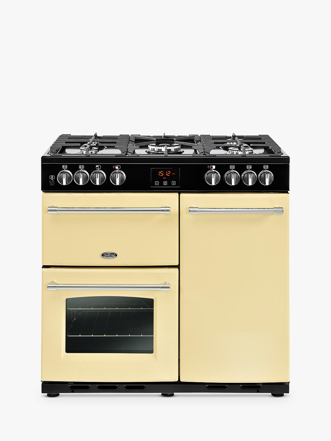 Buy Belling Farmhouse 90DFT Dual Fuel Range Cooker, A Energy Rating, Cream Online at johnlewis.com