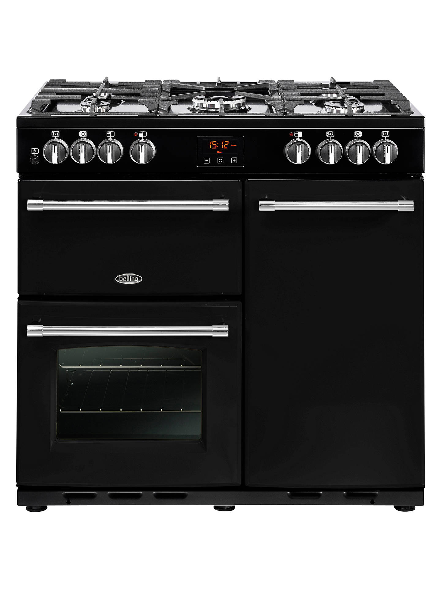 Buy Belling Farmhouse 90DFT Dual Fuel Range Cooker, A Energy Rating, Black Online at johnlewis.com
