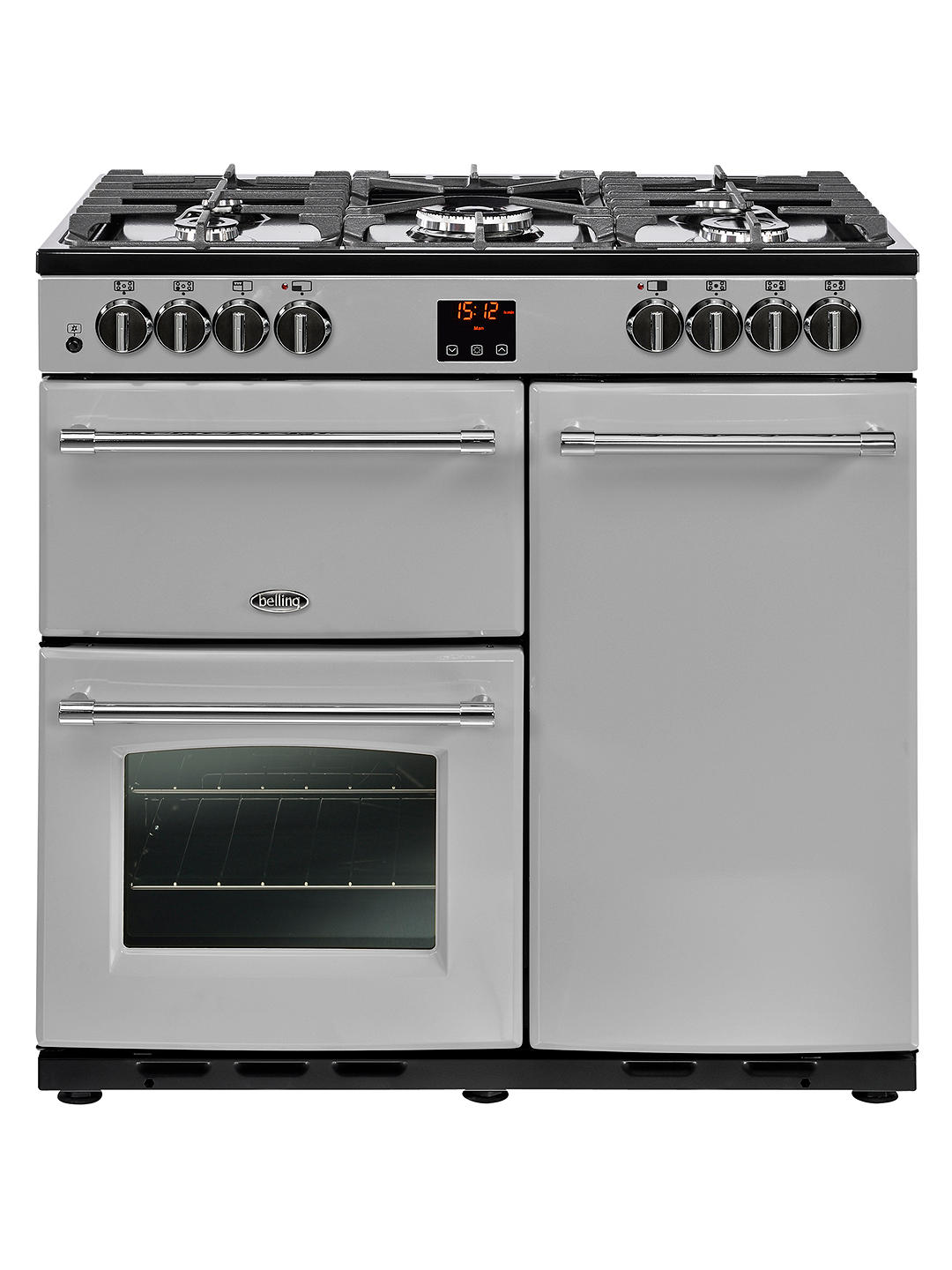 Buy Belling Farmhouse 90DFT Dual Fuel Range Cooker, A Energy Rating, Silver Online at johnlewis.com