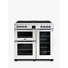 Buy Belling Cookcentre 90E Electric Range Cooker With Ceramic Hob, Stainless Steel Online at johnlewis.com