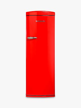 Britannia Breeze Retro Tall Fridge with Freezer Compartment, A+ Energy Rating, 60cm Wide