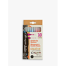 Buy Manuscript Calligraphy Creative Duo Tip Marker Pens, Pack of 10 Online at johnlewis.com