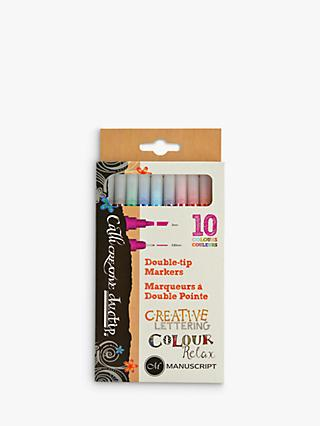 Manuscript Callicreative Duo Tip Marker Pens, Pack of 10