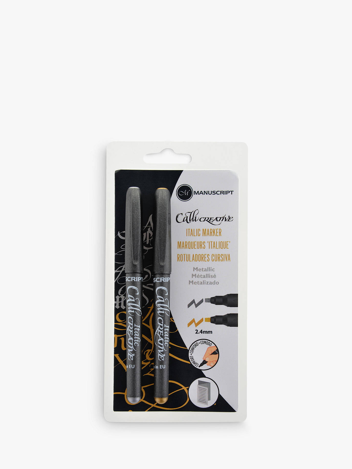 Buy Manuscript Calligraphy Metallic Callicreative Markers, Gold / Silver Online at johnlewis.com