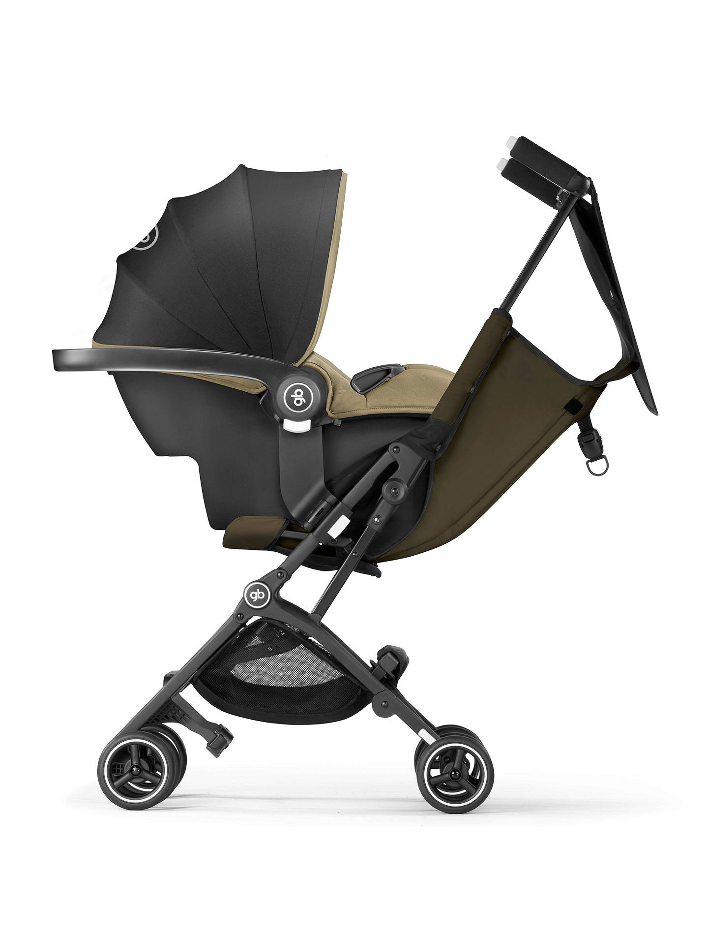 Buy GB Pockit+ Stroller, Lizard Khaki Online at johnlewis.com