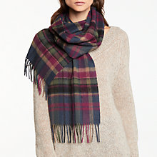 Buy Barbour Vintage Winter Plaid Scarf, Multi Online at johnlewis.com