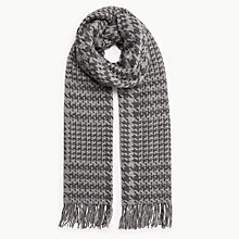 Buy Barbour Thirkleby Lambswool Scarf, Charcoal/Grey Online at johnlewis.com