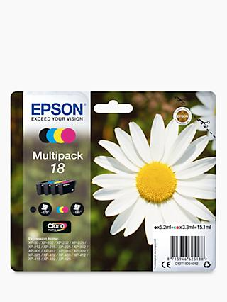 Epson Daisy T1806 Inkjet Printer Cartridge Multipack, Pack of 4