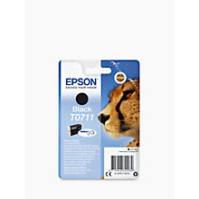 Buy Epson Cheetah T0711 Inkjet Printer Cartridge, Black Online at johnlewis.com