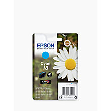 Buy Epson Daisy T18 Colour Inkjet Printer Cartridge Online at johnlewis.com