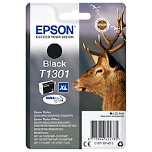 Buy Epson Stag T1301 XL Inkjet Printer Cartridge, Black Online at johnlewis.com