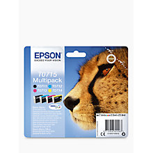Buy Epson Cheetah T0715 Inkjet Printer Cartridge Multipack, Pack of 4 Online at johnlewis.com