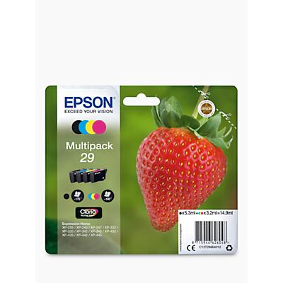 Epson Strawberry T2986 Inkjet Printer Cartridge Multipack, Pack of 4