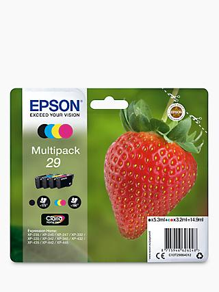 Epson Strawberry T2986 Inkjet Printer Cartridge Multipack, Pack of 4