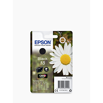 Image of Epson Daisy T1801 Inkjet Printer Cartridge, Black