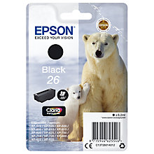 Buy Epson Polar Bear T2601 Inkjet Printer Cartridge, Black Online at johnlewis.com