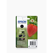 Buy Epson Strawberry T2991 XL Inkjet Printer Cartridge, Black Online at johnlewis.com