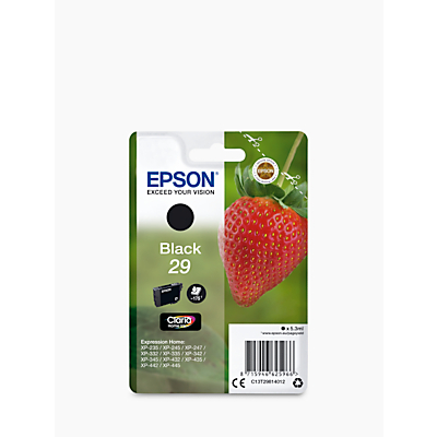 Image of Epson Ink T2981, 29 Original Black C13T29814012