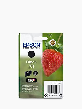 Epson Strawberry T2981 Inkjet Printer Cartridge, Black