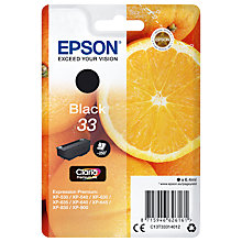 Buy Epson Oranges T3331 Inkjet Printer Cartridge, Black Online at johnlewis.com
